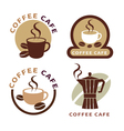 set of icon on coffee element vector image vector image