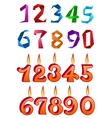 Sets of decorative numbers for holiday design vector image vector image