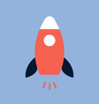 start up concept symbol space roket ship icon vector image