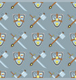 sword and shield seamless pattern protection vector image vector image
