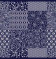 traditional japanese fabrics patchwork wallpaper vector image vector image