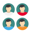 set of flat icons with users vector image