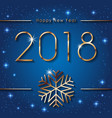 happy new 2018 year seasons greetings banner with vector image