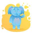 Cute cartoon elephant toy card vector image