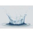 water splash on transparent background water vector image
