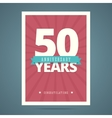 50 year anniversary card