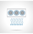 Air ventilation flat line icon vector image vector image