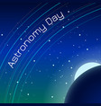 astronomy day night sky with stars and planets vector image vector image