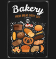 bakery chalkboard vector image