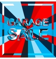 Big ice sale poster with GARAGE SALE text vector image vector image