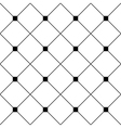 Black Square Diamond Grid White Background vector image