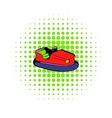 Bumper car icon comics style vector image