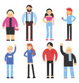 cartoon flat characters different peoples vector image vector image