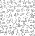 Cartoon Hands Pack Lineart 2 vector image vector image