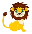 Cartoon nice lion vector image