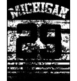 college michigan typography t-shirt graphics vector image vector image