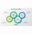 concept of coordinated work or business activity vector image