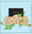 cute roses on light blue vector image vector image