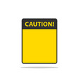 danger sign isolated warning label empty template vector image vector image