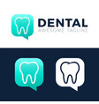 dental consult logo designs concept dental chta vector image vector image