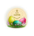 easter eggs with a round frame vector image