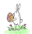 easter rabbit and egg vector image