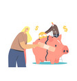 economic recovery business people try to survive vector image