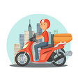 fast delivery concept urban vector image vector image