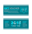 flat design gift certificate of voucher vector image