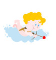 funny cupid isolated symbol of love cute little vector image vector image