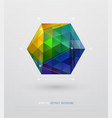 geometric minimal web template vector image vector image