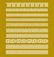 Gold Meander Patterns vector image vector image