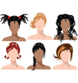 hair styles vector image vector image