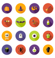 Halloween Colorful Flat Circle Icons Set vector image vector image