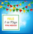 happy fifth of may poster in blue vector image vector image