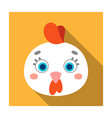 hen muzzle icon in flat style isolated on white vector image vector image