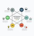 infographic elements and colorful icons on white vector image