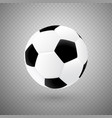 isolated soccer ball with classic design vector image vector image