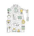 kitchen concept flat line art vector image vector image