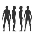 man and woman black silhouettes in fron vector image