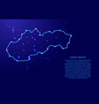 map slovakia from the contours network blue vector image