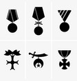 military medals vector image vector image