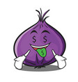 money mouth red onion character cartoon vector image vector image