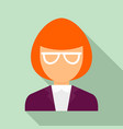 museum woman guide icon flat style vector image