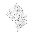 nagorno-karabakh republic map of polygonal mosaic vector image
