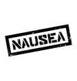Nausea rubber stamp vector image vector image