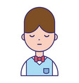nice boy with hairstyle and uniform clothes vector image vector image