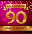 ninety years anniversary celebration design vector image vector image