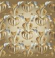 ornate floral seamless pattern beige ornamental vector image vector image