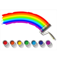 painted rainbow colors on a white background vector image vector image